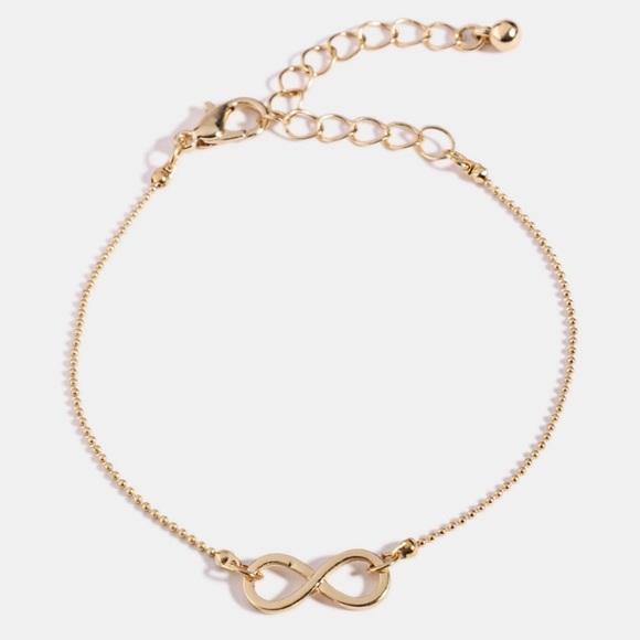 Anthropologie Jewelry - Gold infinity bracelet